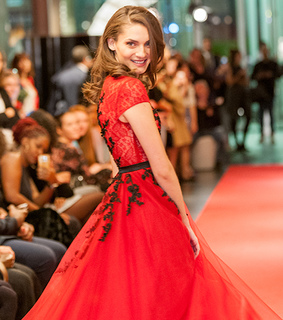 red dress, formal wear and red carpet dress
