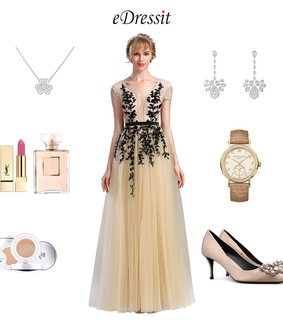 beaded, party dress and short sleeves