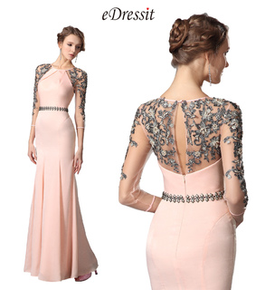 pink evening dress, formal wear and fitted party dress