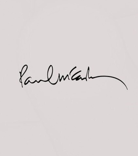 paul mccartney, beatles and autograph