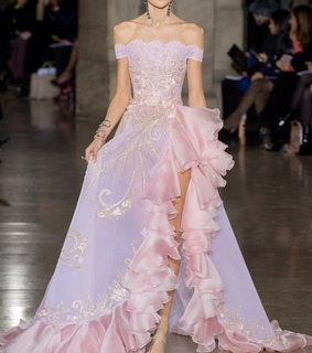 pink dress, couture and dress