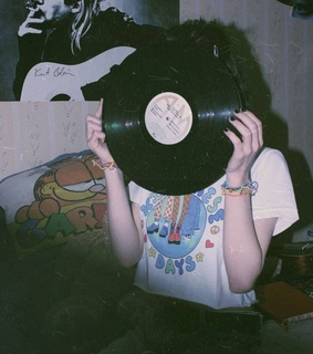 vinyl record, vintage grunge and 90s