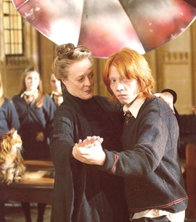 minerva mcgonagall, ron weasley and harry potter