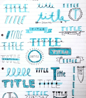 cute notes, title ideas and school hacks