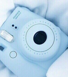 camera, blue and aesthetic