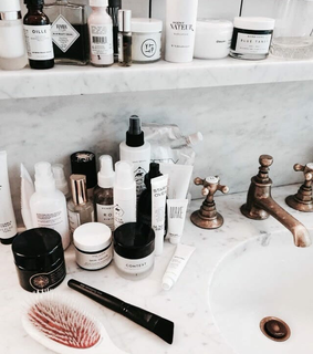 cleanser, products and bathroom
