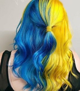 hairstyles, hair and blue and yellow