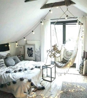 grey, bedroom and white