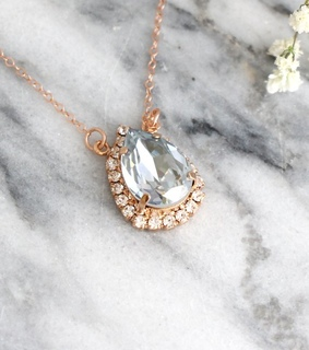 bridesmaids gifts, etsy and light blue necklace