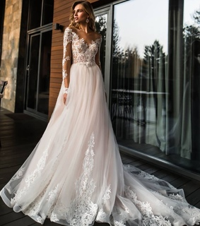 bride, long wedding dresses and offwhite
