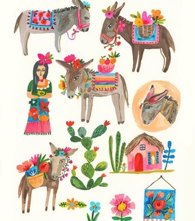 horse, draw and mexican
