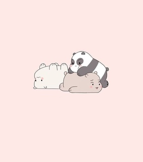 pastel wallpapers, ice bear and grizzly