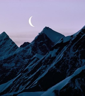 aesthetic, lune and montagne