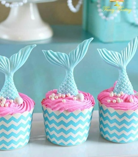 cup cakes, turquesa and party