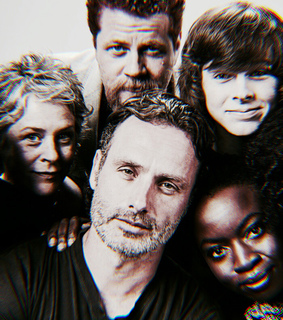 chandler riggs, norman reedus and the walking dead