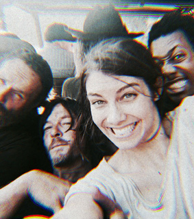 lauren cohan, rp icons and norman reedus