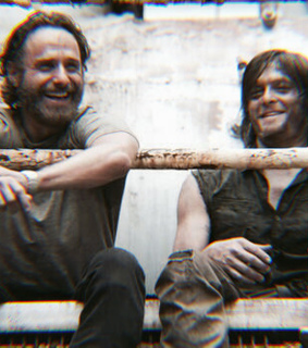 rick grimes, friends and bff