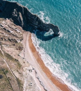 drone photography, coastline and earth
