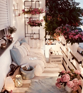 white, home and candles