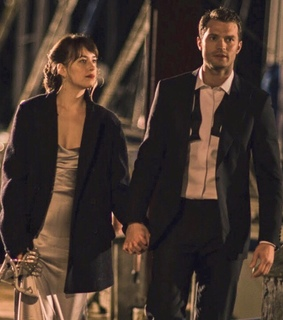 anastasia steele, christian grey and fifty shades darker