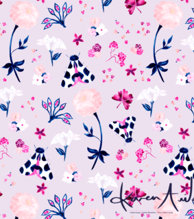 wallpaper, flowers and illustration