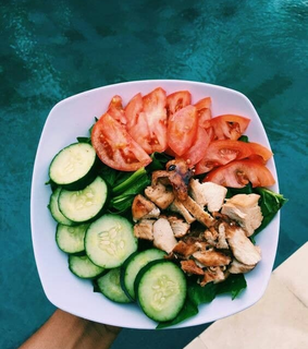 cucumber, tomato and clean eats