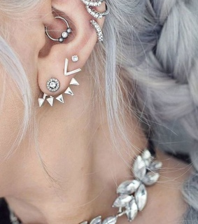 white, piercing and cool
