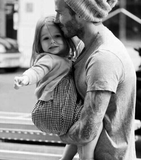 david beckham and father daughter love