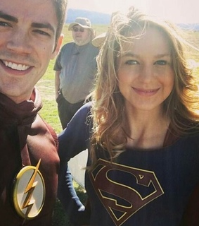 grant gustin, melissa benoist and arrowverse