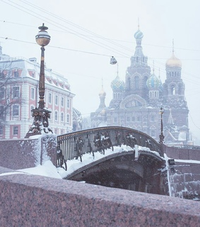 winter, russia and snow