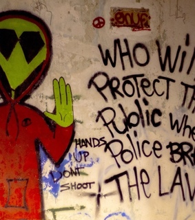 hands up dont shoot, aesthetic and art