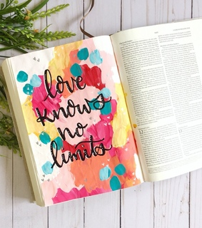 love, faith and bible journaling