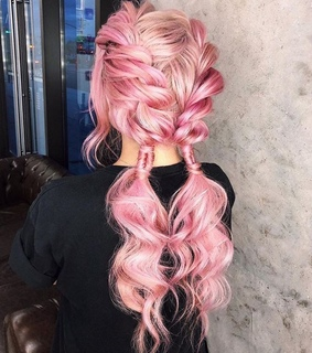 colored hair, hair and pink