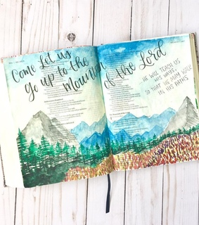 faith, bible journaling and travel