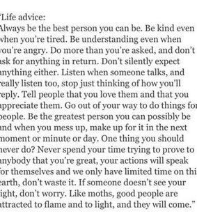 lifes too short, advice and live life