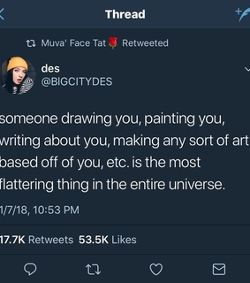 drawing, tweets and relationship