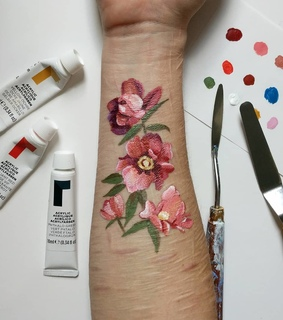 self harm, body positive and body paint