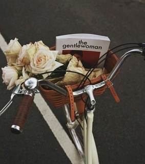 cycling, magazine and flowers