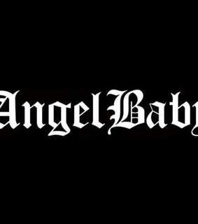 angel baby, daddy and black and white