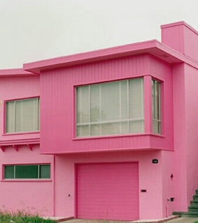 rest, house and pink house