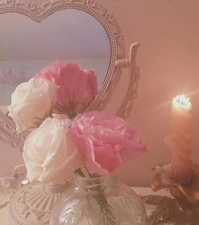 mirror, aesthetics and pink