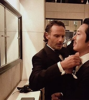 steven yeun, twd and andrew lincoln