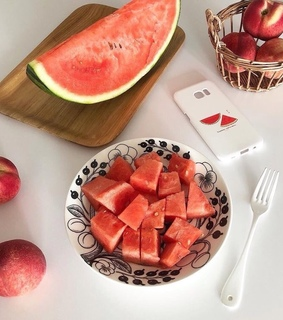 apple, healthy and watermelons