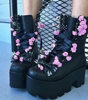 pastel goth, alternative fashion and stomper boots