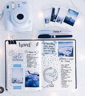 blue, inspiration and journey