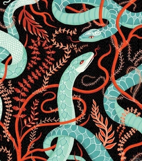 motif, snake and snakes