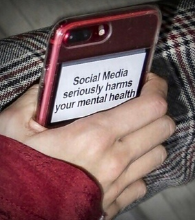 social media, life and phone case