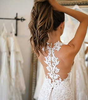 bridal dress and hairs