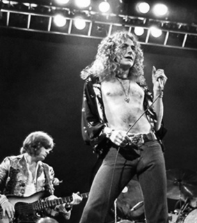 rock n roll, led zeppelin and black and white