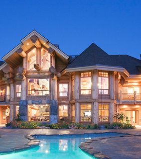 house, mountain living and log cabin